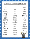 6 Abraham and Sarah themed Dolch Sight Word Lists. Preschool-3rd Grade Reading