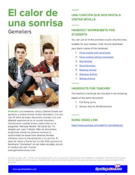 El calor de una sonrisa: Spanish Song to Practice Listening Comprehension