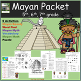 6 Activity Mayan Project Learning Packet