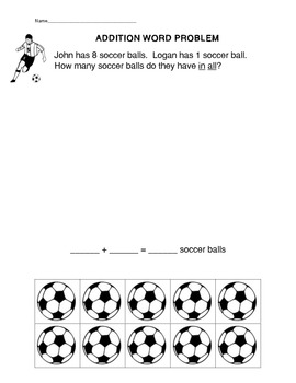 6 Common Core Addition Word Problem Worksheets