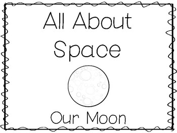 6 Moon Preschool Trace the Word and Color Worksheets and Activities.