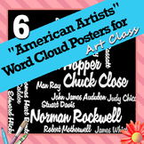 "6 ""American Artists"" Word Wall Posters for Art Class"