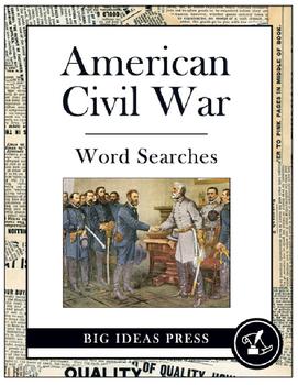 American Civil War Word Search Bundle Pack (Grades 4-5)