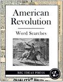 American Revolution Word Search Bundle Pack (Grades 2-5)