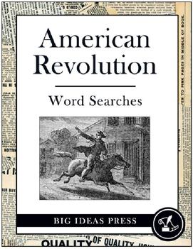 American Revolution Word Search Bundle Pack (Grades 2-5)