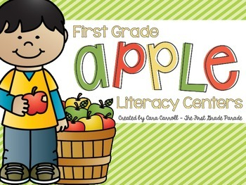6 Apple Literacy Centers for First Grade