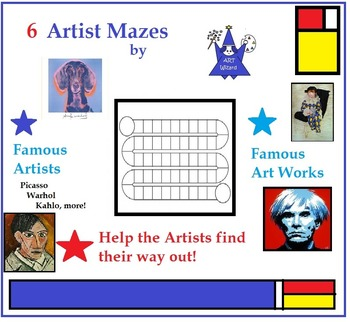Art 7 Famous Artists with Activities (K-5 Printables)