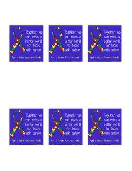 6 Autism Awareness bookmarks