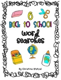 6 Back to School Word Searches