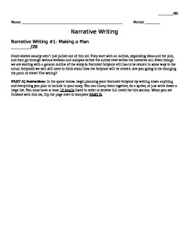 6 Bellwork Lessons for Narrative Writing
