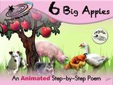 6 Big Apples - Animated Step-by-Step Poem - Regular