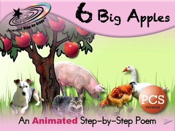 6 Big Apples - Animated Step-by-Step Poem - PCS