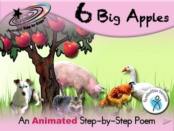 6 Big Apples - Animated Step-by-Step Poem - SymbolStix