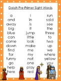 6 Birth of Jesus themed Dolch Sight Word Lists. Preschool-3rd Grade Reading