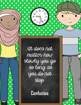 Six Blackboard-Themed Growth Mindset Posters