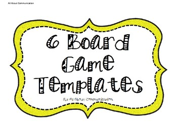 6 Board Game Templates