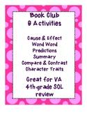 6 Book Club Activities great for 4th Grade VA SOLs