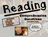 6 Book Reading Comprehension Question Bundle - Printables - Keats
