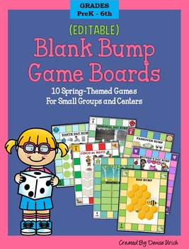 10 Bump Games (Editable & Low Prep) for SPRING - For Small Groups & Centers
