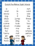 6 Cain and Abel themed Dolch Sight Word Lists. Preschool-3rd Grade Reading