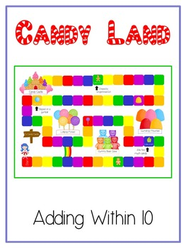 6 Candy Land Math Folder Games Adding Near Doubles Missing Part 3 Addends