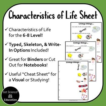6 Characteristics of Life
