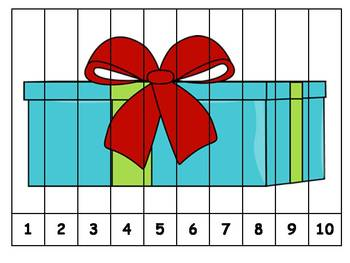 6 Christmas Number Order Puzzles {FREEBIE}