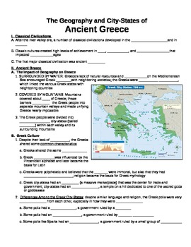 UNIT 2 LESSON 1. City-States of Greece GUIDED NOTES
