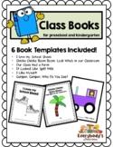6 Class Books for Preschool and Kindergarten