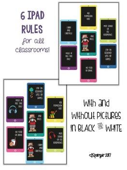 6 Classroom iPad Rules