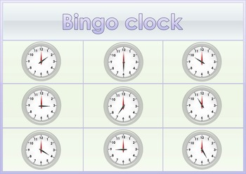 6 Clock Bingo Boards