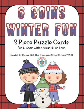Money Matching Coins and Value Puzzle Cards for Winter