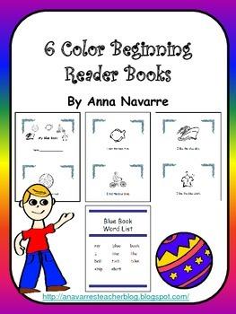 6 Color Beginning Reader Books