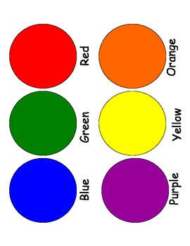 6 Color Sorting Mat By Ashley Ritchie Teachers Pay Teachers