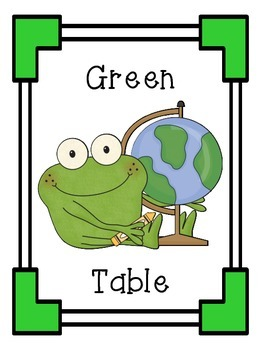 6 Colored Table Signs to Hang in your Classroom