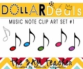 6 Colorful Musical Notes: Quaver (Eighth Note)
