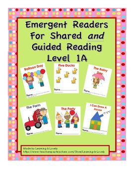 6 Colorful Shared Reading Emergent Readers With Matching Small b&w Readers