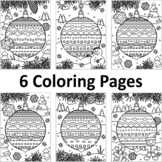 6 Coloring Pages with Decorated Ornaments, CU