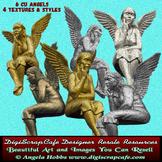6 Commercial Use Vintage Angels png transparent gold bronz