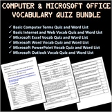 6 Computer and Microsoft Office Vocabulary Quizzes and Wor