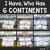 Continent Bundle: Countries and Capitals- I Have, Who Has