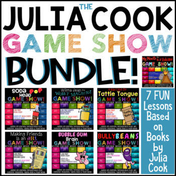 6 Coping & Social Skills School Counseling Lessons Based on JULIA COOK Books