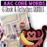 6 AAC Core Words Books and Teach Me 6 Core Words Activities BUNDLE