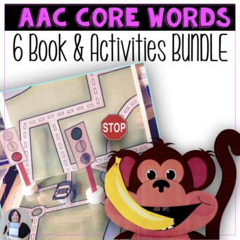 6 Core Words Books and Teach Me 6 Core Words Activities BUNDLE