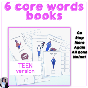 6 Core Words Books for Teaching 6 Early Words to AAC Users