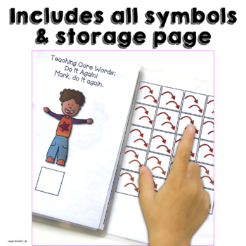 AAC Core Words Interactive Books for Teaching 6 Early Words to AAC Users Set 1