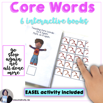 AAC Core Words Go Stop No More Again All done Interactive Books for Emergent AAC