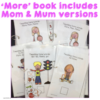 AAC Core Words Go Stop No More Again All done Interactive Books for Speech