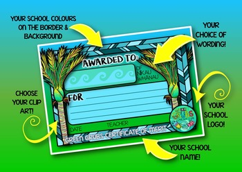 6 Custom Certificates {to match your school theme or syndicate/whanau groupings}