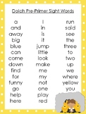 6 Daniel and the Lions Den themed Dolch Sight Word Lists. Preschool-3rd Grade